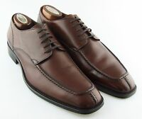 240172 MSi60 Men's Shoes Size 9 M Dark Tan Leather Made in Italy Johnston Murphy