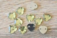 TK8 Heart Lt Green 100pcs 8x8mm Flatback Acrylic Resin Jewel Sew On
