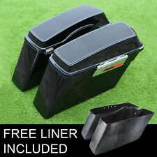 """Saddlebags w/ 6x9"""" Speakers Lids For Harley Touring Softail Dyna Sportster XL883"""
