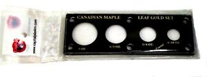 Capital Holder For Canadian Maple Leaf Canada Gold Coin Set 1 1/2 1/4 1/10 OZ