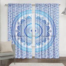 Ombre Mandala Indian Cotton Window Home Door Valances Drapes Hanging Curtain Set