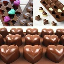 15 Heart Shapes Silicone Cake Decorating Mould Cookies Chocolate Baking Mold LG