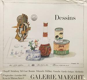 Saul Steinberg - Dessins - 1981 - Exhibition - Offset