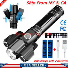 Tactical Rechargeable 9000LM LED Flashlight super bright Twist 300° Torch Lamp
