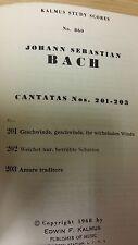 Bach: Cantatas 201-203: Music Score