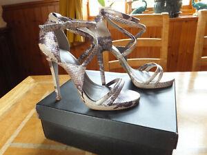 Kurt Geiger strappy snakeskin high heels size 7 / 41