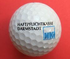 Pelota de golf con logo-responsabilidad civil caja Darmstadt-golf logotipo Ball como amuleto