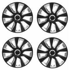 4 x Radkappen Radzierblenden 15 Zoll schwarz silber von Versaco Typ Stratos