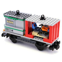 Lego City Cargo Train Railway Container Bank Snowmobile Wagon from 60198 - NEW