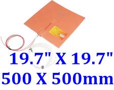 "19.7"" X 19.7"" 500 X 500mm w/ 3M 3D Printer Heat Bed JSRGO Silicone Pad Heater"