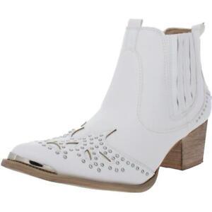 Wanted Womens Lonestar White Cowboy, Western Boots 7 Medium (B,M) BHFO 2321