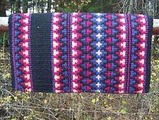 Custom Taos Trail Show Blanket - 38x34 (Black Base, Rasp, Indigo, Honey)