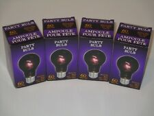 "Party Light Bulb ""FOUR"" Glows Purple Spooky Halloween Mood Lighting Dance Party"
