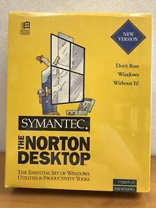 Norton Desktop V 3.0 Windows, DOS, Symantec Software - NEW Sealed