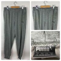 PUMA Mens Grey Jogger Bottoms Casual Pants / XL Retro Cotton