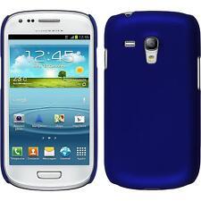 Custodia Rigida Samsung Galaxy S3 Mini - gommata blu + pellicola protettiva