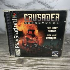 Crusader: No Remorse Sony PlayStation 1 PS1 Black Label CIB w/ Manual Tested