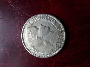 Latvia 1929 5 Lati silver coin,XF