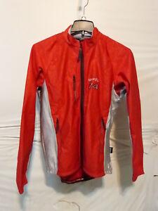 Sportful Men's Red/Silver Long Sleeve Cycling/Running Windstopper Jacket XL