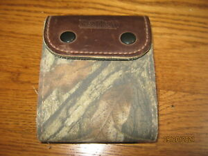 Vintage Redhead Hunting Leather canvas Bullet Ammo Belt Holder Pouch 243 6mm cal