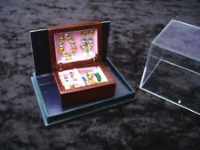 Deluxe Wood Jewellery Box with Jewellery Miniature Dollhouse D11 Jewelry Reutter