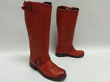 $380 FRYE VERONICA SLOUCH TALL LEATHER RIDING BOOTS 6.5M OXBLOOD RED