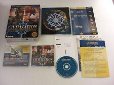 Civilization CALL TO POWER Pc Cd Rom Original BIG BOX Fast Secure Post