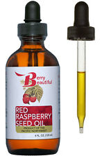 Red Raspberry Seed Oil - 4 fl oz (120 mL) - Cold-Pressed by Berry Beautiful