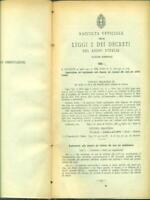 RACCOLTA DELLE LEGGI E DECRETI DEL REGNO D'ITALIA. 1931. VOLUME IV    1931