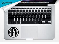 Monogram Track Pad Trackpad Laptop Mac Macbook Decal Sticker Name Initials Vinyl