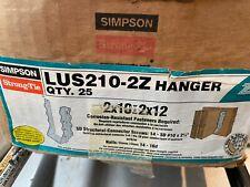 Simpson Strong Tie Lus210 2z Joist Hanger 9 X 3 18 X 2