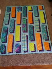 Handmade Quilt  Shadow Box/ Turtles applique two sided 70 x 56