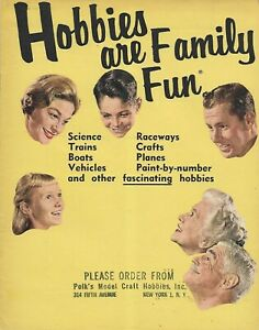 HOBBIES ARE FAMILY FUN 1961 MODEL KIT TOY CATALOG AURORA REVELL COX LINDBERG
