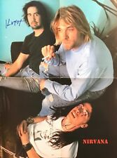 Nirvana Signed Krist Novoselic Dave Grohl Autographed Poster (Kurt Cobain) Proof