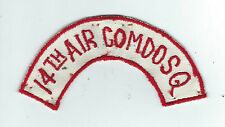 60s 14th AIR COMMANDO SQUADRON (IN-COUNTRY MADE) BOONIE HAT TAB