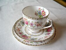 VINTAGE ROYAL GRAFTON (A.B.J.) CHINA TEA TRIO ----MALVERN PATTERN.