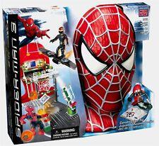 SPIDERMAN 3 Mega Bloks 2002 Secret Lab Assault 155 pieces New Goblin Playset