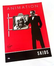 Skids-Animation-1980 Sheet Music-Original UK-Stuart Adamson-Richard Jobson-Rare!
