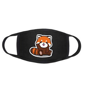 RED PANDA Cartoon Cute Face Mask / Covering Washable Reusable Present Gift Idea