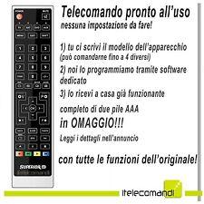 TELECOMANDO PREPROGRAMMATO PER DECODER DIGITALE, TV, DVD  E SAT TELESYSTEM