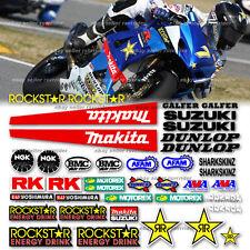 2009 ama race track decal kit fits suzuki gsxr model
