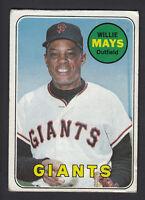 Willie Mays 1969 Topps Baseball Card #190 VGEX