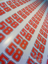 MARCO SIMONCELLI #58 RACE NUMBERS STICKERS DECALS GRAPHICS x4 SMALL