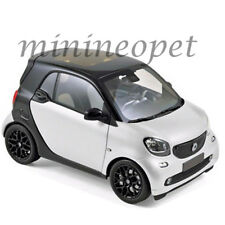 NOREV 183430 2015 SMART FOR TWO 1/18 DIECAST MODEL CAR BLACK / WHITE