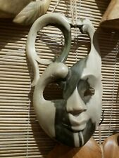"""Magical, Abstract Wood Mask - 6.5"""" Length, Hand Crafted, Made in Bali - New"""