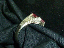 Mens vintage DECO Ring - red stone