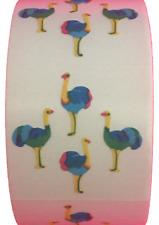 "400 Ostrich Stickers in roll of 100 modules (2"" x 2""), each sticker 0.75"",Rf2503"