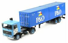 Volvo F10 - P&O containers - 1983 - Blue - Ixo