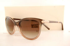 Brand New MONT BLANC Sunglasses MB 471 471S 50F Brown Glitt/Gradient Brown Women