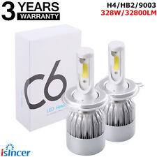 2x H4 328W 32800LM LED Hi/Lo Beam Headlight Light Car Bulbs Kit White 6000K CHE